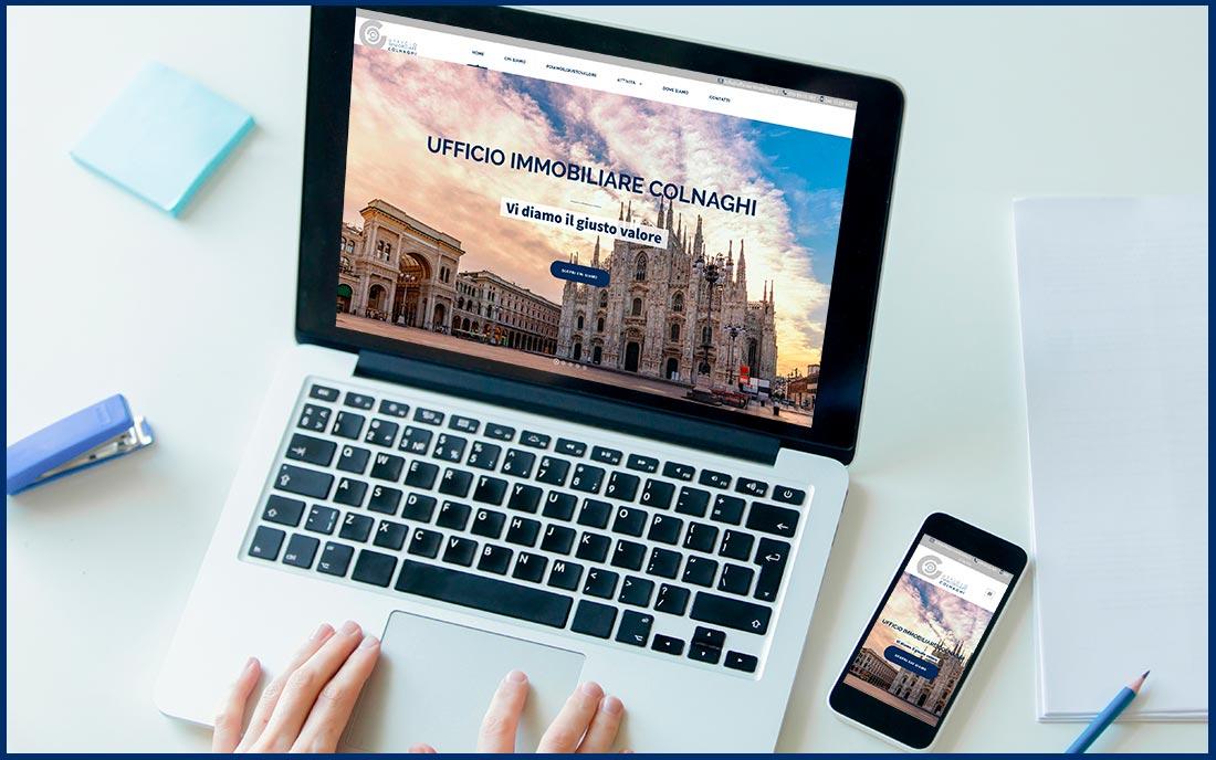 web design ufficio immobiliare Colnaghi